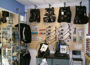 Scuba gear in our Fort Lauderdale shop