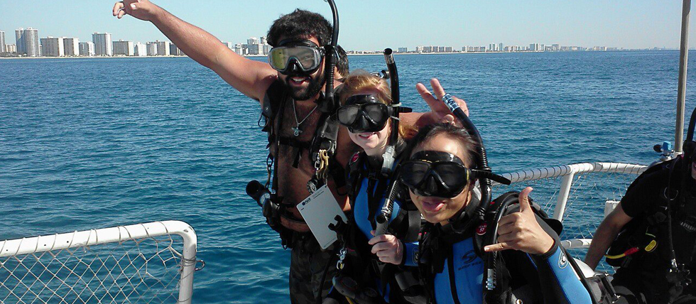 PADI open water scuba instructor class