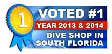 Voted #1 Dive Shop in South Florida 2013 & 2014